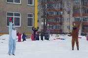 Žiemiškos linksmybės lauke