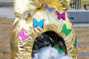 Palaikykite mus velykinių margučių dekoracijų konkurse